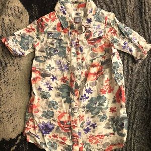 Old Navy 4T Floral Button Front Dress